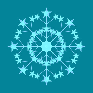 Vector Stars Snowflake