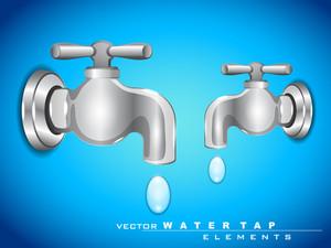 Vector Steel Water Tap