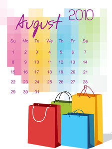 Vector Stylish Pattern Calender