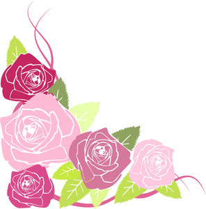 Vector Stylized Red Roses