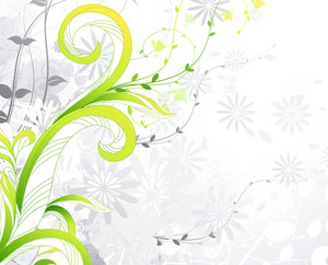 Vector Summer Background With Floral