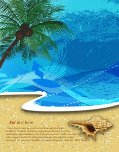 Vector Summer Background With Palm Tree