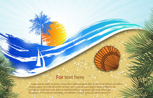 Vector Summer Background With Seashell