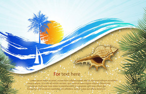 Vector Summer Background With Wave