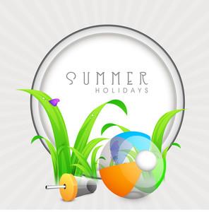Vector Summer Concept Frame