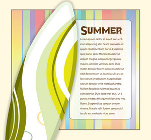 Vector Summer Frame With Surf Board