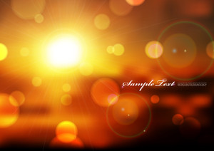 Vector Sunny Blurry Lights