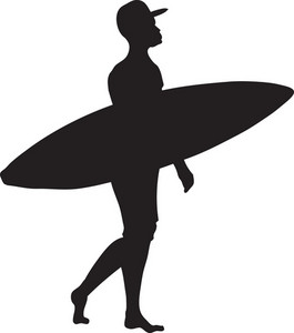 Vector Surfer Silhouette