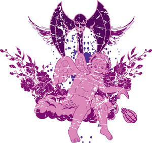Vector T-shirt Design With Angel