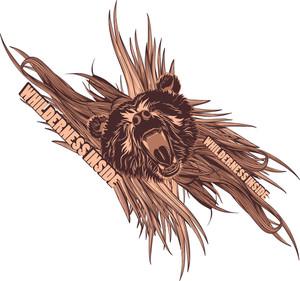 Vector T-shirt Design With Bear