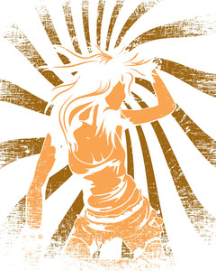 Vector T-shirt Design With Dancing Girl