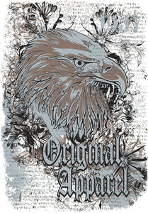 Vector T-shirt Design With Eagle Head