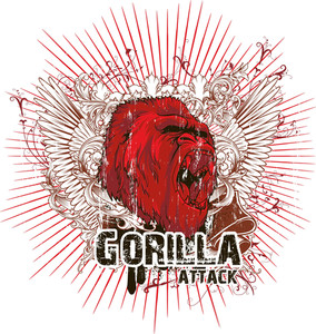 Vector T-shirt Design With Gorilla