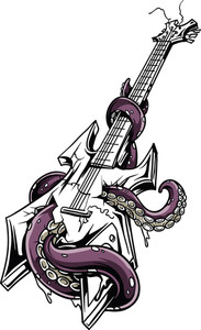 Vector T-shirt Design With Guitar