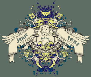 Vector T-shirt Design With Lion Head
