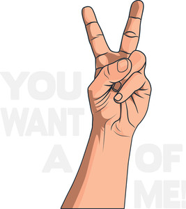 Vector T-shirt Design With Peace Sign
