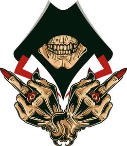Vector T-shirt Design With Skull