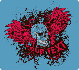 Vector T-shirt Design With Skull