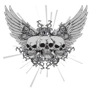 Vector T-shirt Design With Skulls