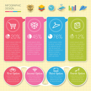 Vector Template And Design Element Set For Infographics.