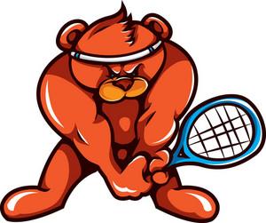 Vector Tennis Mascot