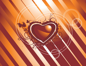 Vector Texture Of Grungy Hearts Concept