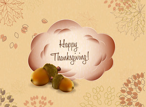 Vector Thanksgiving Illustration With Frame