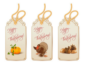 Vector Thanksgiving Shopping Tags