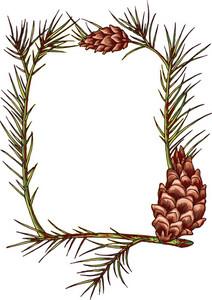 Vector Tree Cone Frame