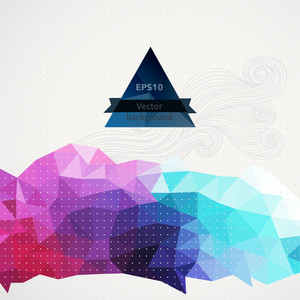 Vector Triangle Pattern Background