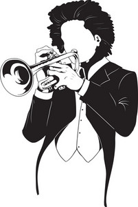 Vector Trumpet Player