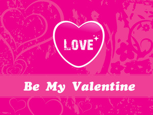 Vector Valentine Background With Heart