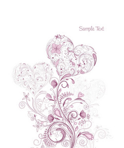 Vector Valentine Floral Background