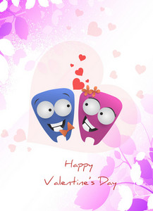 Vector Valentine's Background With Cute Monsters