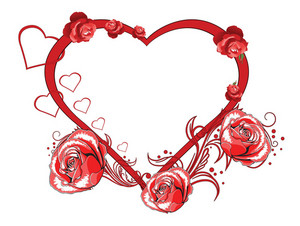 Vector Valentines Background With Roses