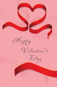 Vector Valentine's Day Background With Heart Made Of Ribbon