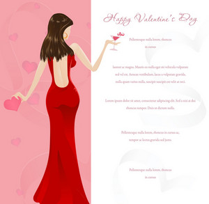 Vector Valentine's Glamour Background
