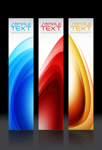 Vector Vertical Website Banners