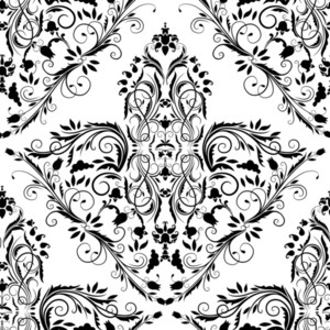 Vector Victorian Seamless Pattern