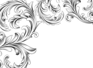 Vector Vintage Background With Engraved Floral