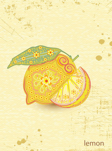 Vector Vintage Background With Lemon