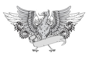 Vector Vintage Emblem With Griffin