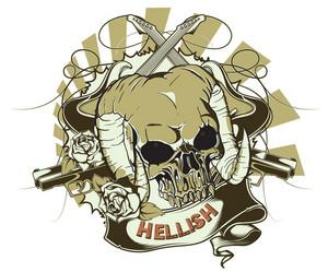 Vector Vintage Emblem With Skull