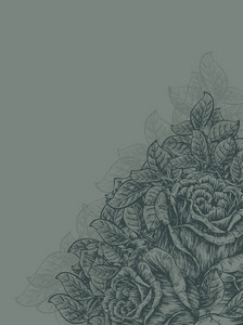 Vector Vintage Floral Background With Roses