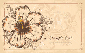 Vector Vintage Floral Background