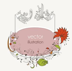 Vector Vintage Floral Frame