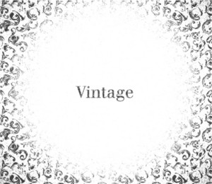 Vector Vintage Grunge Background With Floral
