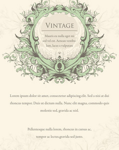 Vector Vintage Invitation With Floral