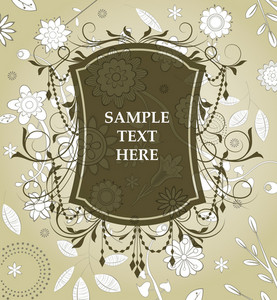 Vector Vintage Label With Floral