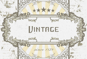 Vector Vintage Label With Grunge